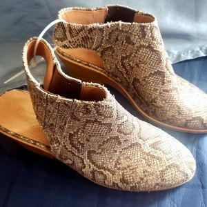 Reptile leather sling back shoes